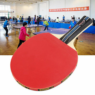 Table Tennis Long Handle Table Tennis Paddle & Blue Waterproof Carring Bag AU