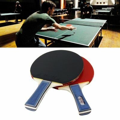 2PCS/SET Table Tennis Racket Ergonomic Handle Pingpong Ball Racket With Ball GT