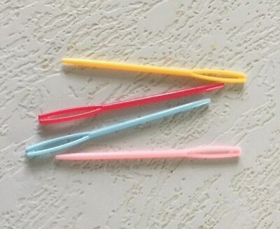 4pcs Needles MED Knitting Darning Tapestry Sewing Plastic Craft Kids