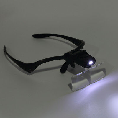 Headband Magnifier LED Magnifying Glass with 5 Lens for Repairing Reading YA