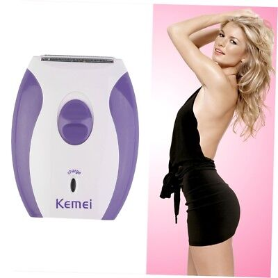 Women Lady Rechargeable Electric Skin Body Hair Removal Shaver Trimmer Clean ~~