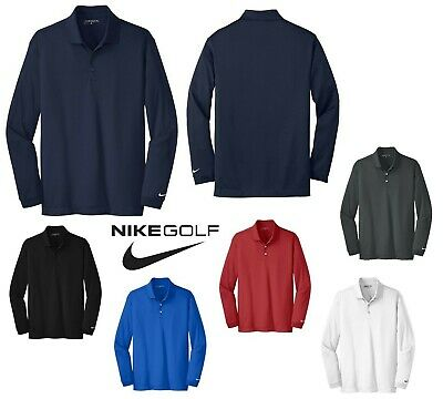9600e6bb Men's Nike Golf Long Sleeve, Dri-Fit Polo Shirt, Side Vents, Lightweight