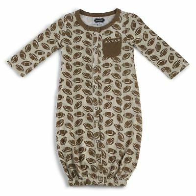 NWT MUD PIE BABY BOYS DINOSAUR CONVERTIBLE GOWN//SLEEPER OUTFIT SZ 0-3 MO