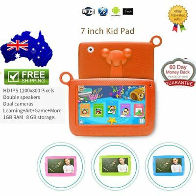 """Dual Camera 7"""" Android 4.4 Quad Core Kids Tablet 8GB WIFI HD Touch Screen PC UK"""