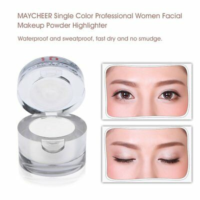MAYCHEER Single Color Professional Women Facial Makeup Powder Highlighter GT