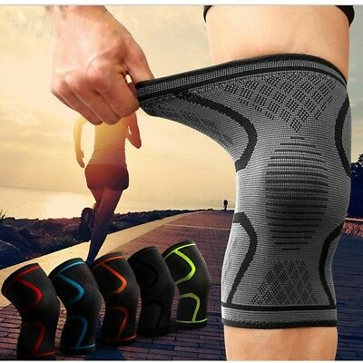 Fitness Running Cycling Knee Support Braces Elastic Nylon Sport Knee Pad Men