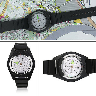 NEW Tactical Wrist Compasses Military Outdoor Survival Strap Band Bracelet GT