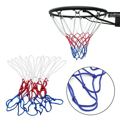 New Red White Blue Basketball Net Nylon Hoop Goal Rim Mesh Net Sports GU