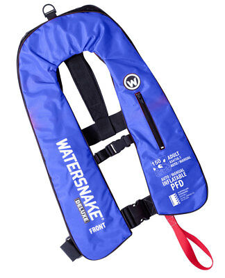 AUTO/MANUAL combo inflatable PFD - Watersnake (Adult) in Blue, Red