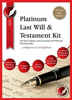 LEGAL FORMS, WILL KIT, NEW PLATINUM Edition 'TOP OF THE RANGE WILL KIT'.