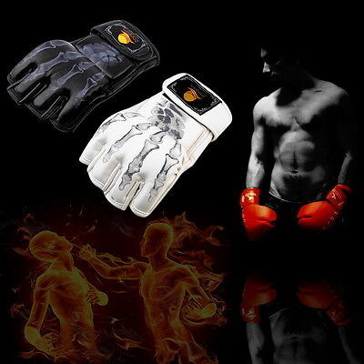 MMA UFC Sparring Grappling Fight Boxing Punch Ultimate Mitts Leather Gloves GU