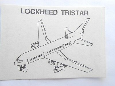 Vecchio,old,lot Kinder Lockheed Tristar/ancien Montable  Flugzeuge Corplast