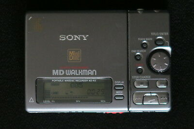 Sony Mz-R3 Minidisc Player Recorder In Grey Japan Made A Classic Ex-Cond &  Gwo