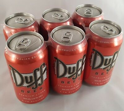 The Simpsons Duff beer 6-pack