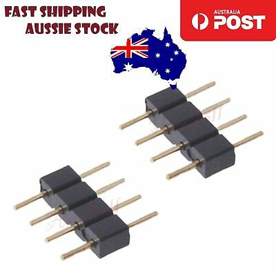 10X 4PIN MALE FEMALE Header Adapter Connector RGB 3528 5050 LED