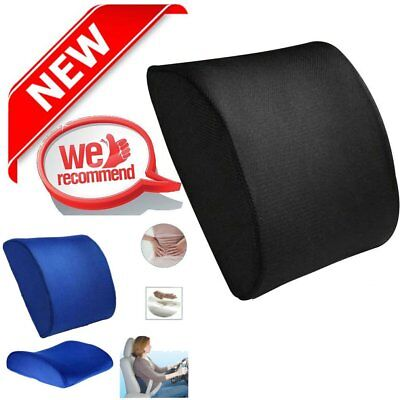 Back Support Cushion Waist Pillow Memory Foam Lumbar Office Home Chair Car PP