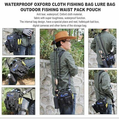 Waterproof Oxford Cloth Fishing Bag Lure Bag Outdoor Fishing Waist Pack Pouch TT