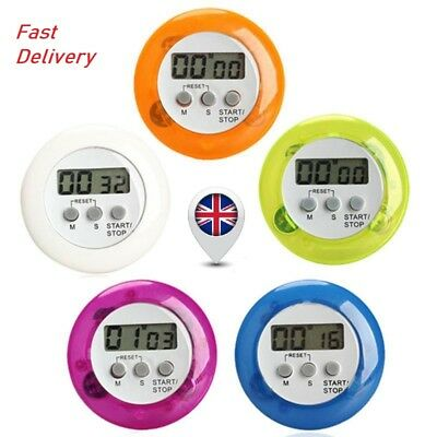 New Cute Mini Round LCD Digital Cooking Home Kitchen Countdown UP Timer Alarm BH