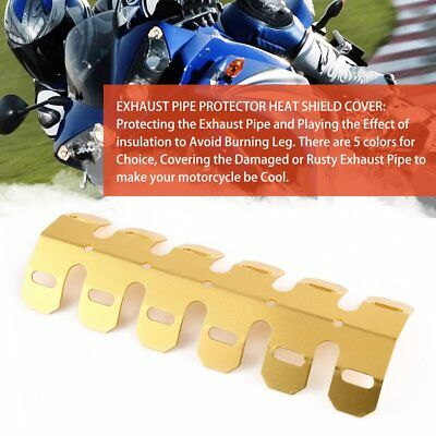 Aluminum Motorcycle Exhaust Muffler Pipe Protector Heat Shield Cover Golden AU