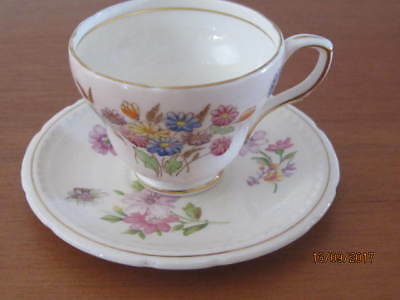 Mixed Vintage -  ''pink Floral'' - Coffee / Demitasse - Cup & Saucer Duo