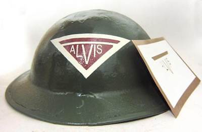 WW2 British Alvis Helmet Stencil Warden Security Armoured vehicles Tommy WWII