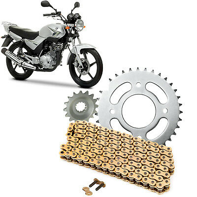YBR125 2007-2014 Gold Chain and Sprocket Kit