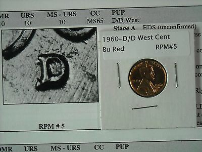 1960-D D/D West Lincoln Cent RPM BU Red #5
