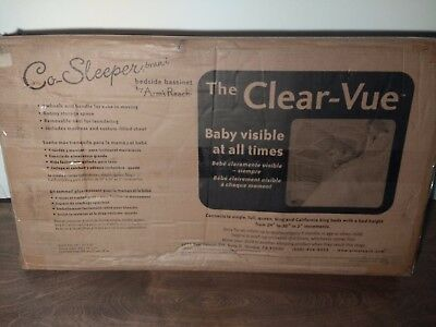Arm's Reach Clear-Vue Co-Sleeper in Natural, Bassinet Crib Co Sleeper- New