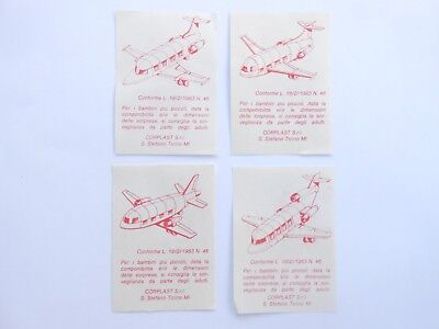 Vecchio,lot Bpz Kinder/ancien Montable Bpz Dusenflugzeuge-Complete Set Corplast