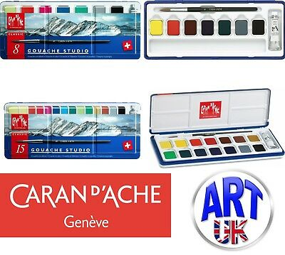 Caran D'Ache Gouache Studio - Water Cake Paint - Sets Pan Colour Tablets