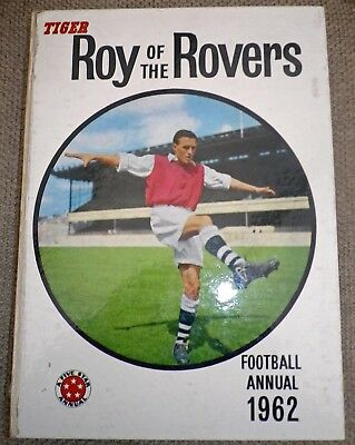Vintage Tiger ROY OF THE ROVERS Annual 1962 - Fleetway - Generally VG