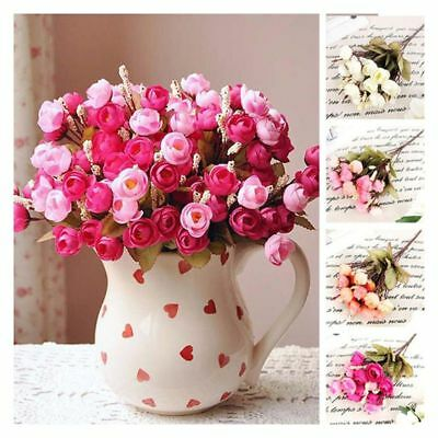 Flowers Floral 18 Flower Heads Peony Bouquet Wedding Room Decor Spring
