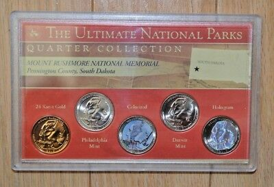 2013 Unc Mount Rushmore Nationl Park Quarter Collection in Safe Case