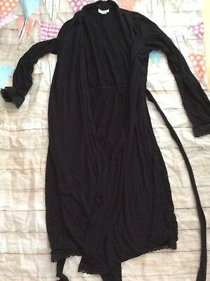 A Pea In The Pod Maternity Nursing Robe Sleep Black Medium Cozy