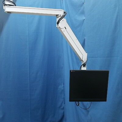 ICW Dental Overhead Ceiling Monitor Mount with Monitor and Rapid Run Cable
