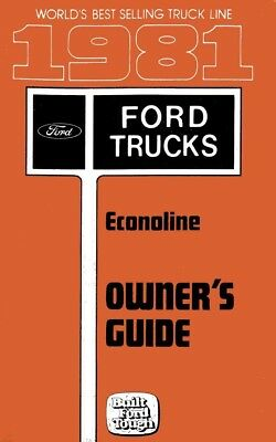 Automotive Car & Truck Manuals 1987 Ford Econoline Van Owners Manual User Guide Reference Operator Book Fuses