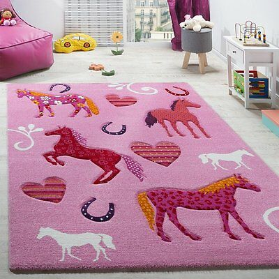 Soft Girls Bedroom Rug Pink Children Kids Play Room Carpet Mat Thick Small  Large