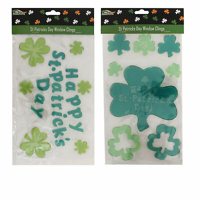 St Patricks Day - Decorations, Novelty - 2 Packs Window Gel Stickers