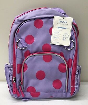 NEW Pottery Barn KIDS Fairfax SMALL Bright Pink Dots Lavender Backpack~NO  MONO adce7688ed