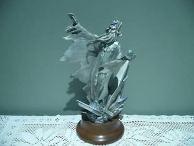 Heavy Pewter Ice Wizard Figurine - James Lane Casey - Le #162 / 2500 - Vintage