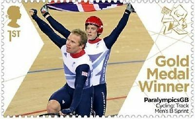 UK ParalympicsGB Gold Medal Winner Single Stamp - Anthony Kappes MNH 2012