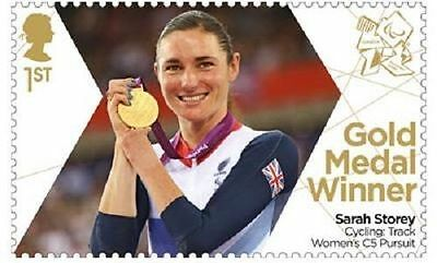 UK ParalympicsGB Gold Medal Winner Single Stamp - Sarah Storey Women's Pursuit M
