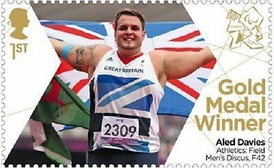 UK ParalympicsGB Gold Medal Winner Single Stamp - Aled Davies MNH 2012