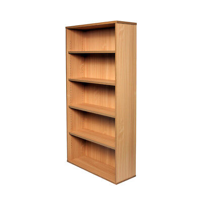 Office Open Bookcase Adjustable Shelves H1800mm or H1200mm Beech & White