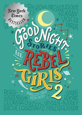 Good Night Stories For Rebel Girls 2 by Elena Favill Hardcover Book Free Shippin
