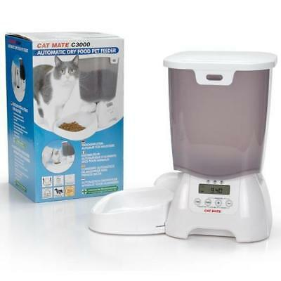 Cat Mate distributeur d'aliment 3kg - Blanc - Pour chat