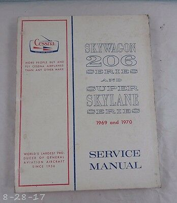 1969 & 1970 Cessna Skywagon 206 Series & Super Skylane Service Manual Catalog