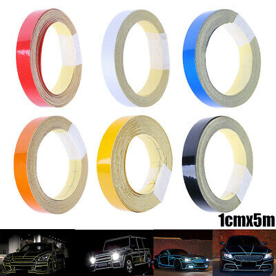Car Reflective Tape Warning Sticker Ornament 1cmx5m Motorcycle Decor Waterproof