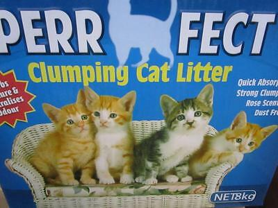 16kg Cat kitten clumping cat litter rose scented absorb moisture odour absorbing