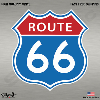 Route 66 Color Decal Sticker-Free Shipping